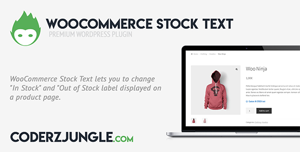WooCommerce Stock text - CodeCanyon Item for Sale