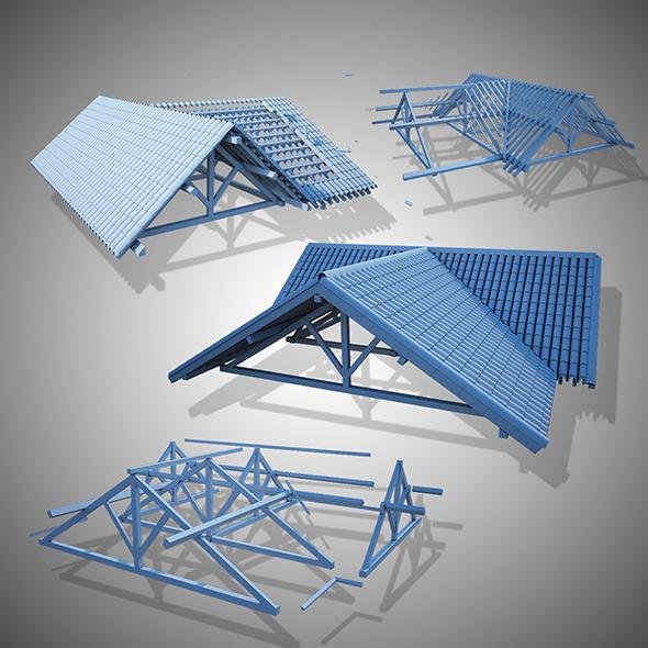 wood frame construction - 3DOcean Item for Sale