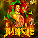 Abstract Jungle EDM Dj Party Flyer