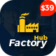 Factory HUB - Industry / Factory / Engineering and Industrial Business WordPress Theme Nulled