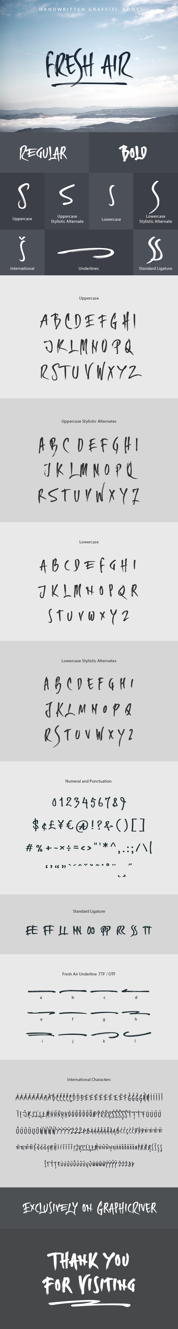 Fresh Air Handwritten Graffiti Font - Hand-writing Script