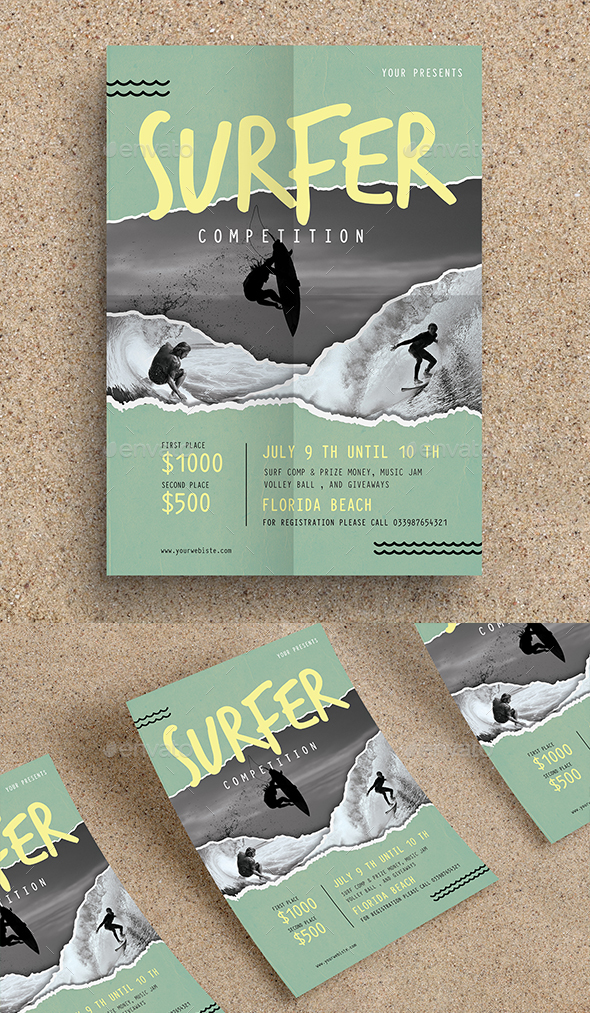 Surf Competition Flyer - Sports Events