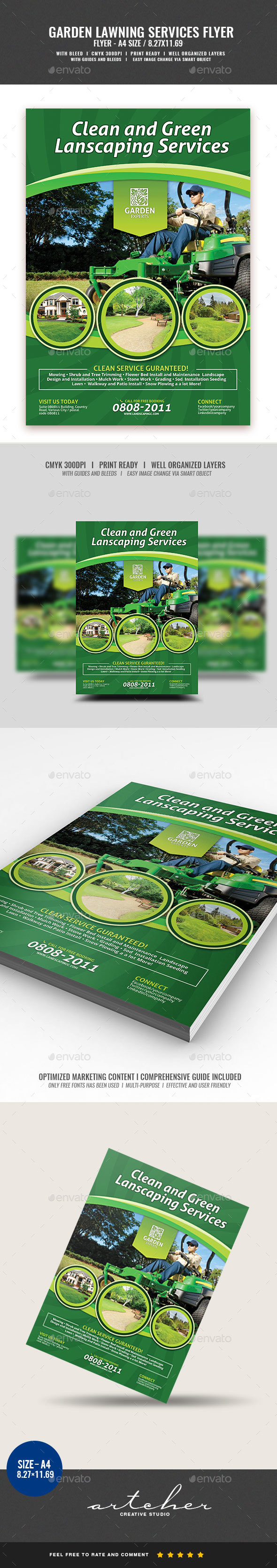 Landscaping Services Flyer - Corporate Flyers