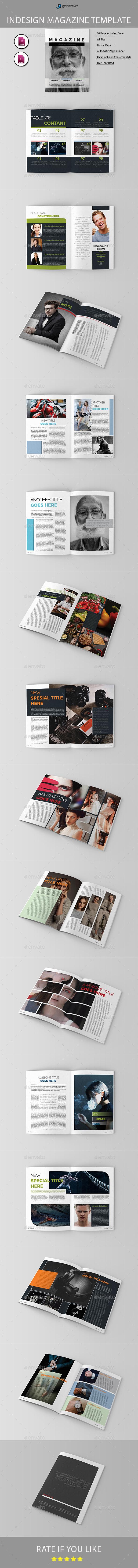 Magazine Template03 - Magazines Print Templates