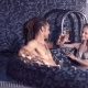 Young Man with Dreadlocks and Beautiful Woman Relaxing in the Pool - VideoHive Item for Sale