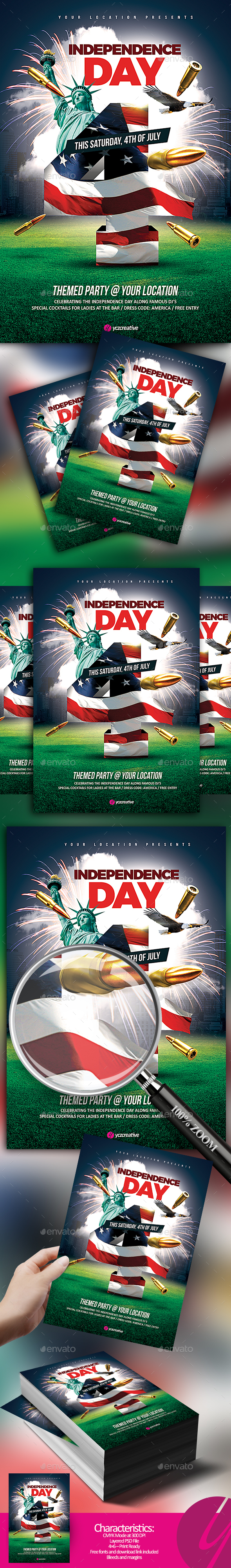 Independence Day Flyer - Holidays Events
