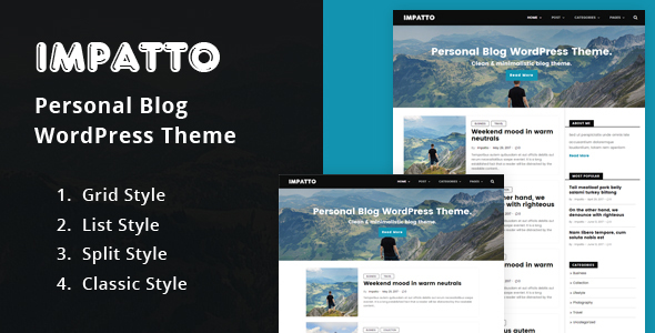 Impatto – Personal Blog WordPress Theme.