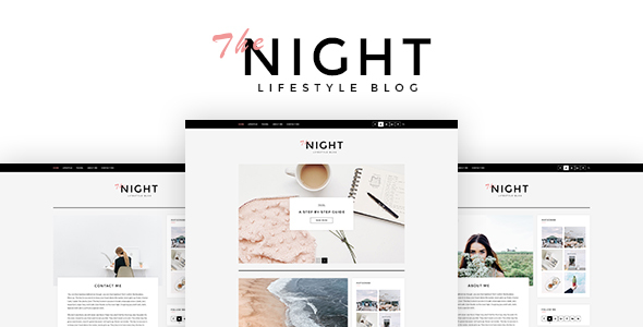 The Night - Blog PSD Template
