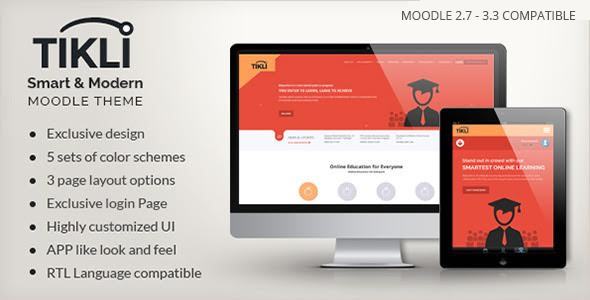 Download TIKLI - Responsive Moodle Theme nulled version