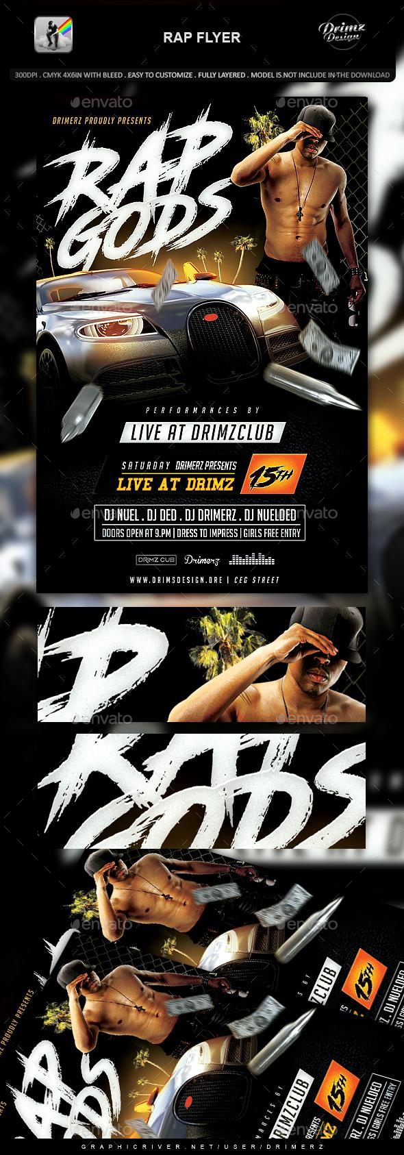 Rap Flyer - Events Flyers