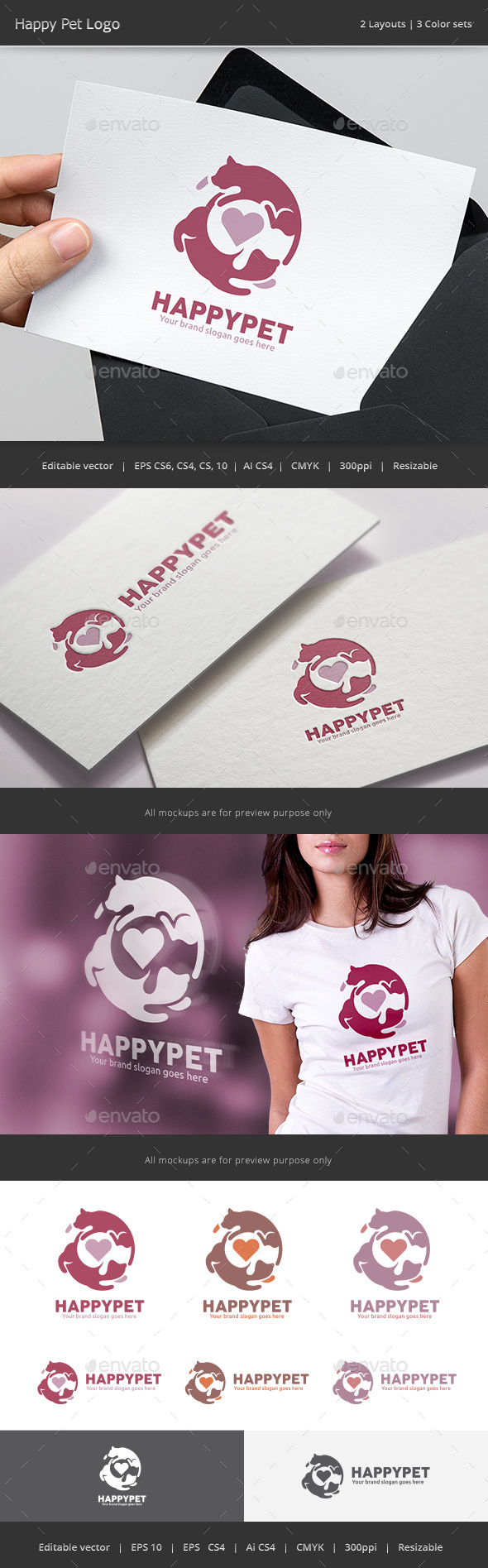 Happy Pet Logo - Animals Logo Templates
