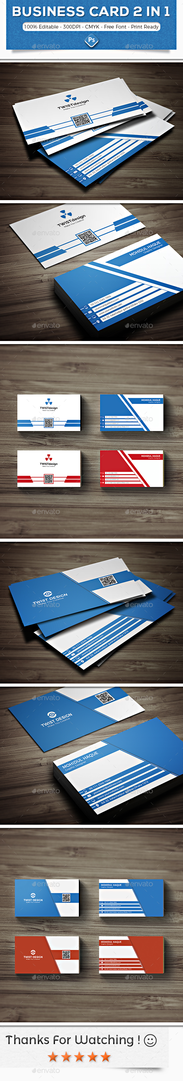 Modern Business Card Bundle - Corporate Business Cards