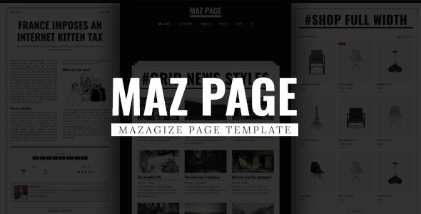 MazPage - Magazine, News, Blog, Shop, Newspaper Template