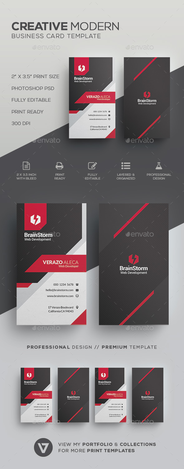 Corporate Business Card Template - Corporate Business Cards