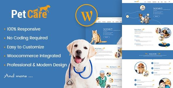 Petcare - Pet Shop And Healthcare WordPress Theme