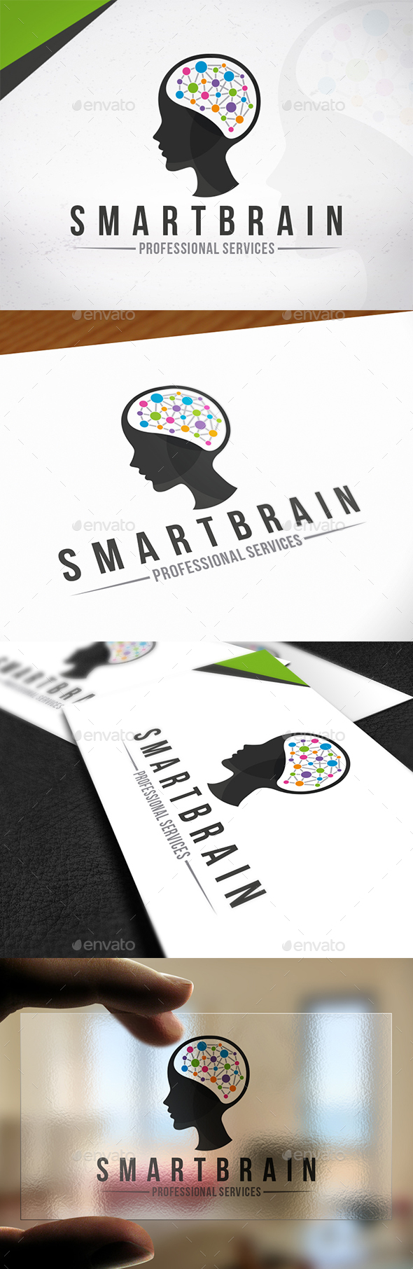 Smart Brain Creative Logo - Humans Logo Templates