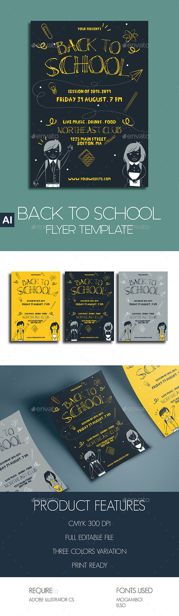 Back To School Flyer Template - Events Flyers