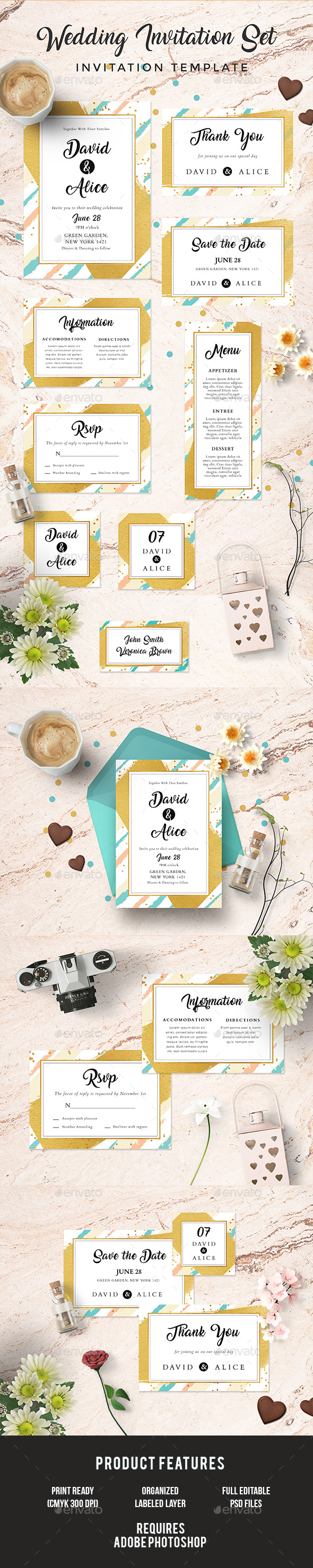 Wedding Invitation Set - Weddings Cards & Invites