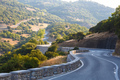 Winding mountain road in Greece, Kalambaka