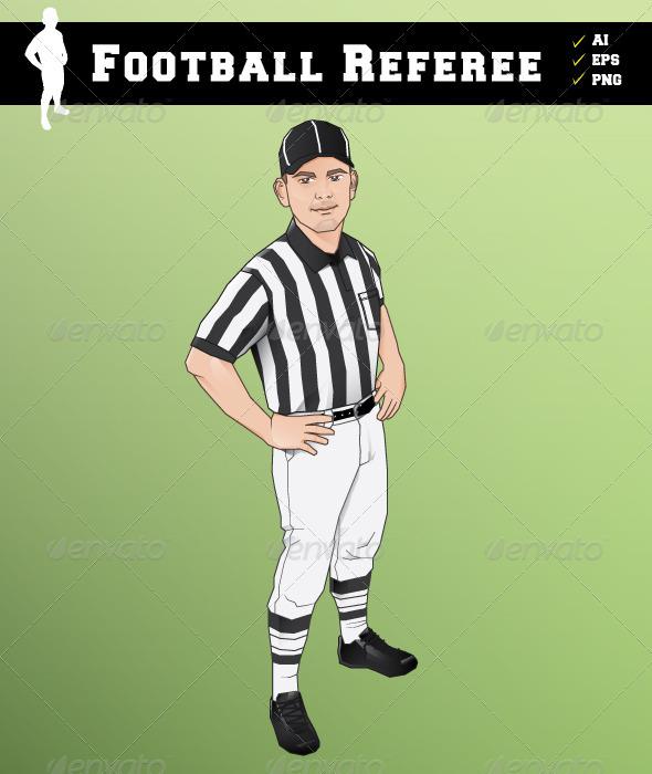 Football Referee - Characters Vectors