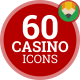 Casino Poker Game Gambling - Flat Animated Icons and Elements