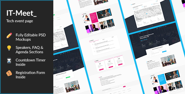 IT_Meet — Minimal and Clean Tech/IT-Conference PSD Template