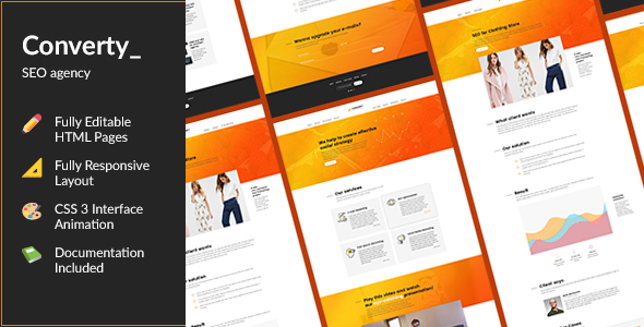 Converty — Responsive Eye-Catching SEO/Marketing Agency HTML Template - Marketing Corporate