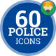 Police Law Security Cop Officer Policeman - Flat Animated Icons and Elements
