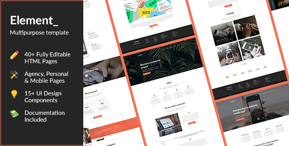 Element — Multi-Purpose HTML Template
