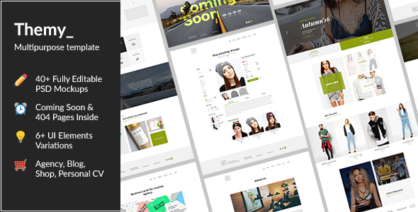 TheMY — Creative Multipurpose PSD Template