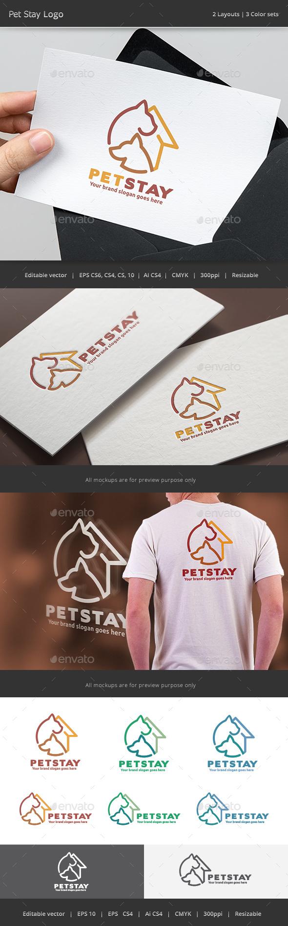 Pet Stay Logo - Animals Logo Templates