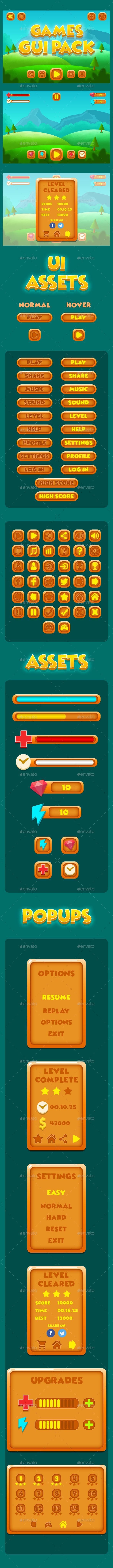 Full Game UI Kit - User Interfaces Game Assets