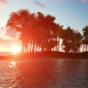 Sunset Palm Island and Birds - VideoHive Item for Sale