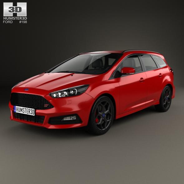 Ford Focus turnier ST 2014 - 3DOcean Item for Sale