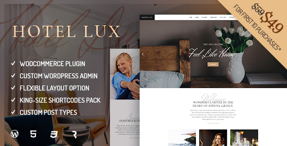 Hotel Lux – Resort & Hotel WordPress Theme
