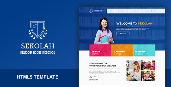 Sekolah – Senior High School HTML5 Template