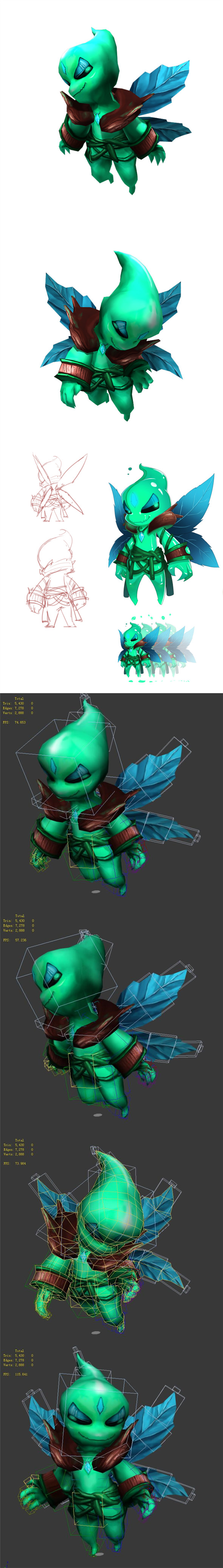 Game animated characters - wood spirit - 3DOcean Item for Sale