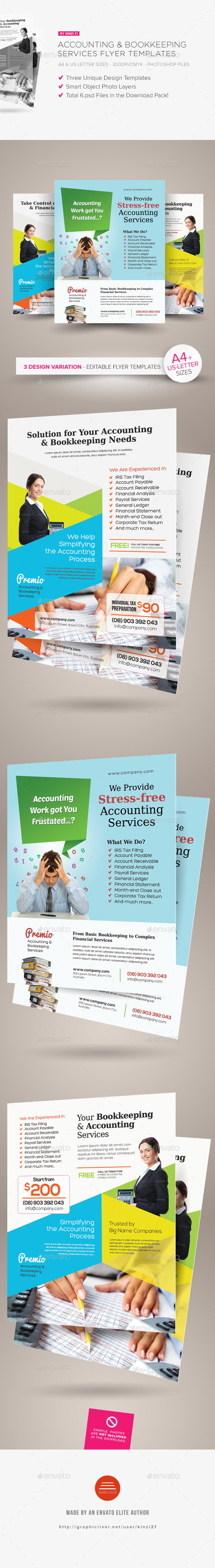 Accounting and Bookkeeping Services Flyers - Corporate Flyers