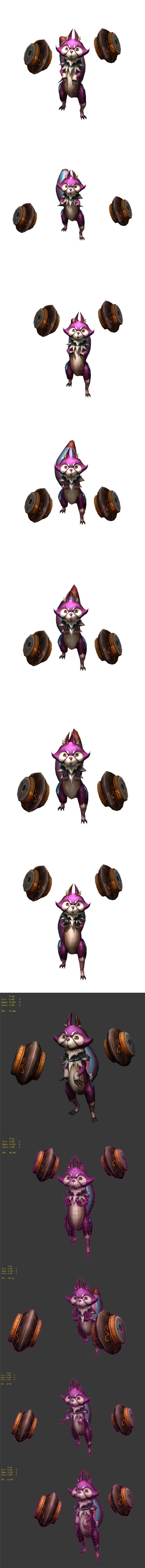 Game Animation Role - Lightning Mink - 3DOcean Item for Sale