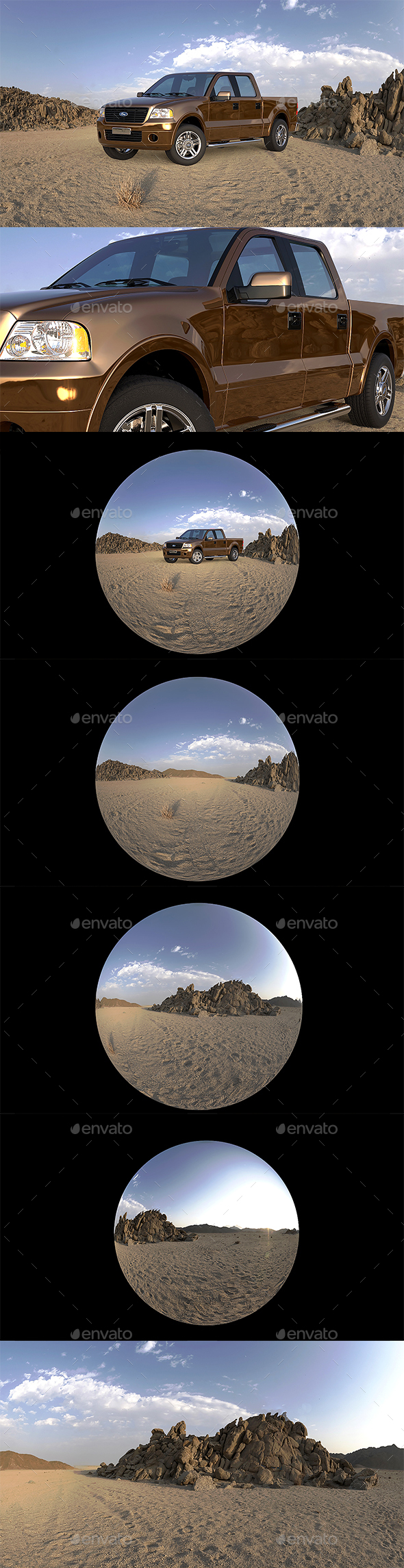 Ultimate HDRI Desert & Dawn Pack - 3DOcean Item for Sale