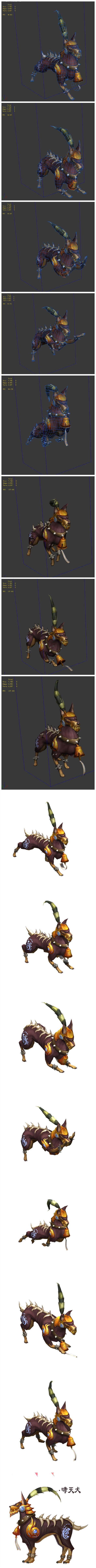 The role of the game animation - Xiaotian dog - 3DOcean Item for Sale