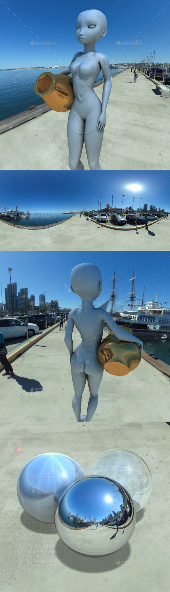 Blue Sky Harbour HDRI - 3DOcean Item for Sale