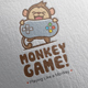 Monkey Game Logo Design - GraphicRiver Item for Sale
