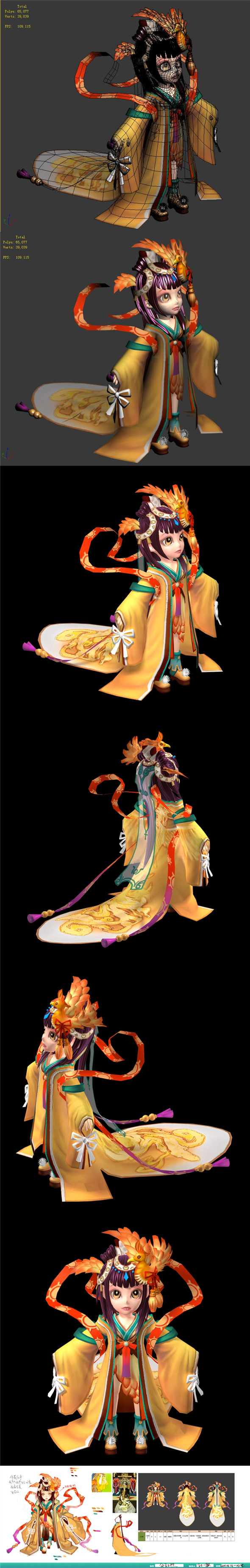 The characters of the game - Gongsunzhao - 3DOcean Item for Sale