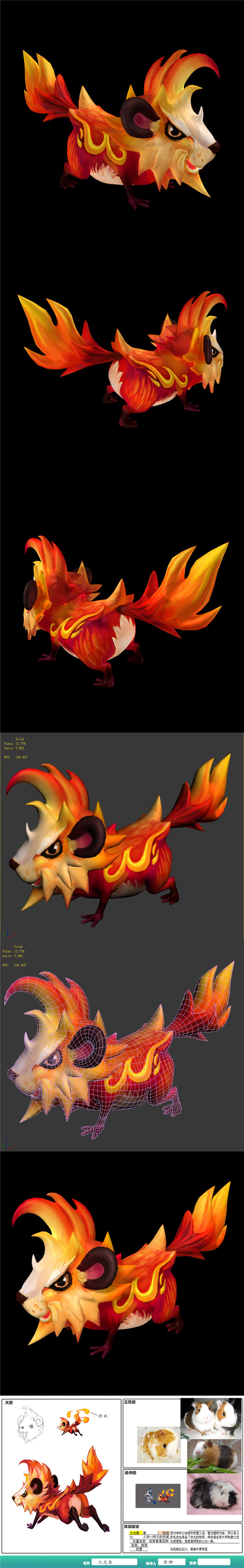 The character of the game - fire beast - 3DOcean Item for Sale