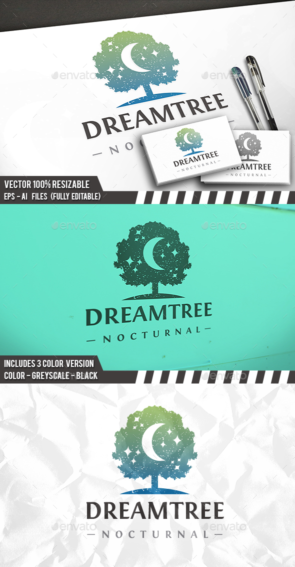 Tree Of Dreams Logo - Nature Logo Templates