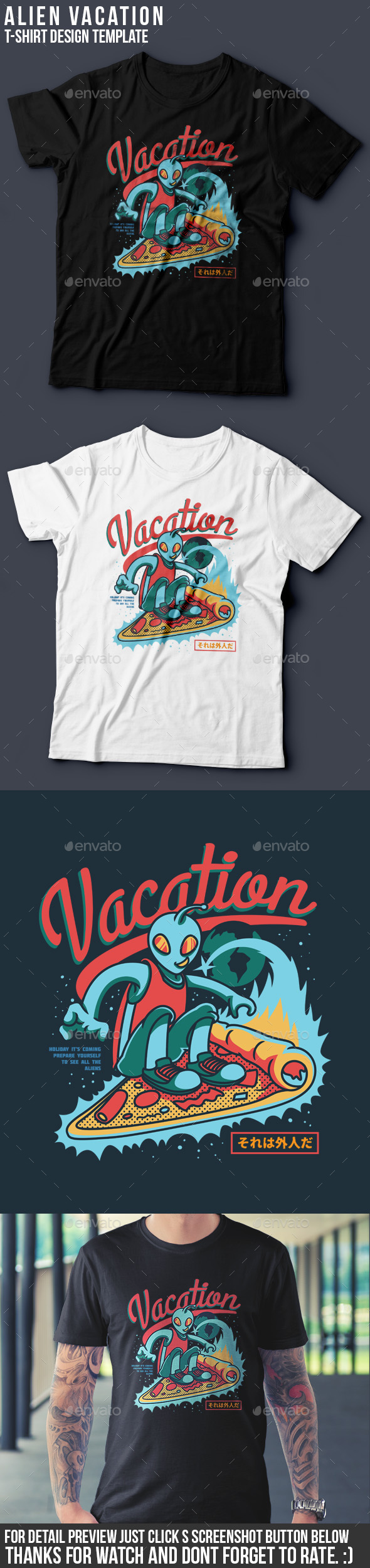 Vacation T-Shirt Design - Clean Designs