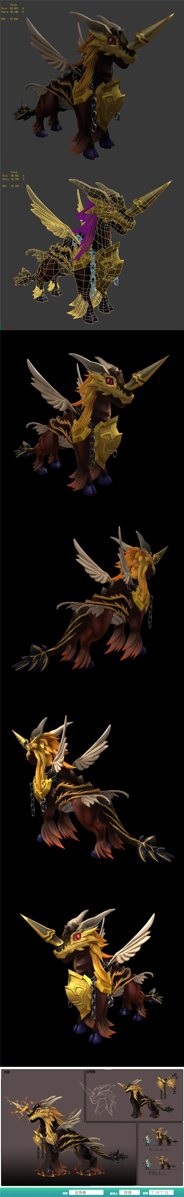 The characters of the game - Golden Horns - 3DOcean Item for Sale