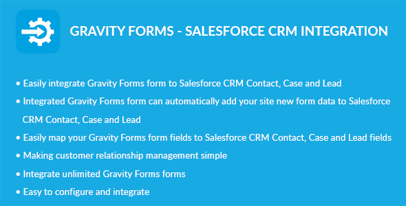 Gravity Forms - Salesforce CRM Integration - CodeCanyon Item for Sale
