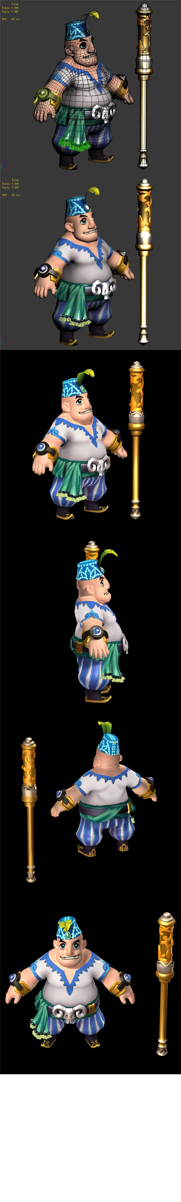 The characters of the game - Ma Guangzo - 3DOcean Item for Sale